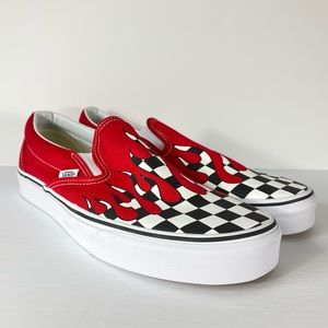 Vans Classic Slip-On Checker Flame Sneakers
